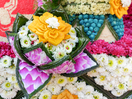 Close up Flower decoration from Chiang Mai Flower Festival 2017, Thailand