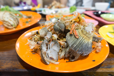 Seafood waste after eating at Thailand restaurant