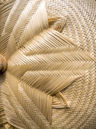 Brown woven bamboo close up texture 写真素材