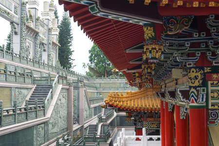 Sun Moon Lake, Taiwan- November 15, 2019: Wen Wu Temple at Sun Moon Lake, in Yuchi Township, Nantou County
