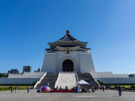 Taipei, Taiwan- November 16, 2019: Chiang Kai-Shek Memorial Hall, famous historic building in Taiwan