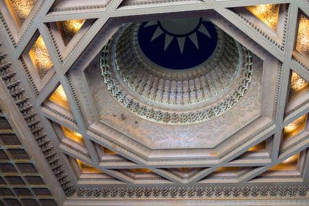 Taipei, Taiwan- November 16, 2019: ceiling details inside Chiang Kai-shek Memorial Hall