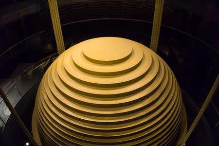 Taipei, Taiwan- November 16, 2019:  The world's largest tuned mass damper in Taipei 101