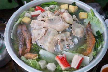 Thai style BBQ or Moo Kra Ta at Mon Jam, Mae Rim, Chiang Mai, the north of Thailand