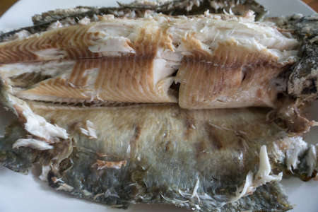 Salt-Crusted Grilled Fish, healthy food in Thailand