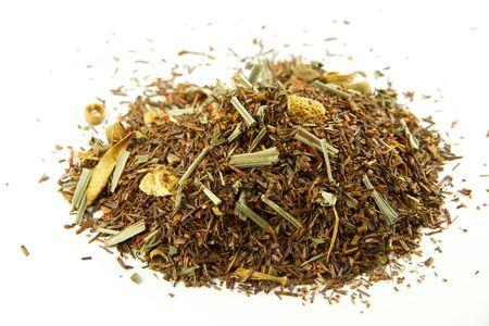 Tea mixture isolated on white background photo