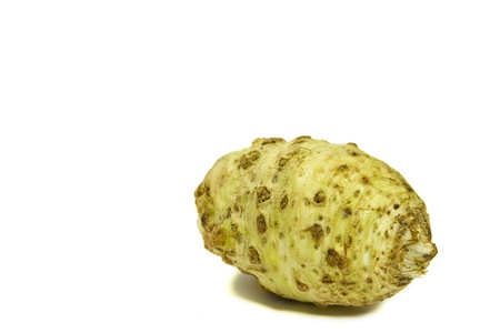 Celery root isolated on a white background