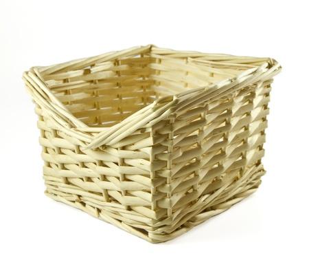 Wattled basket isolated on a white background Stock Photo