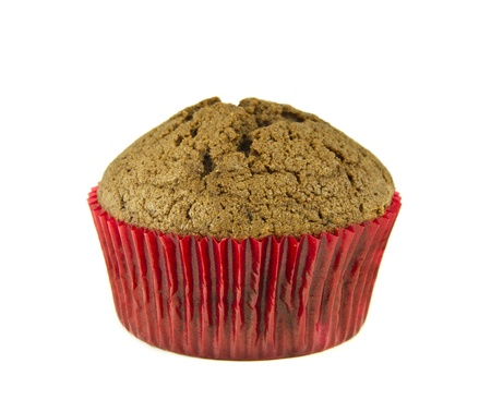 Delicious muffin isolated on a white background