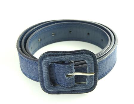 waistband:  Blue belt isolated on a white background