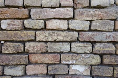 Old and damaged brick wall