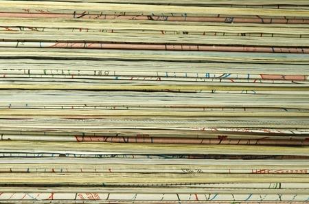 magazine stack:  Magazines background Stock Photo