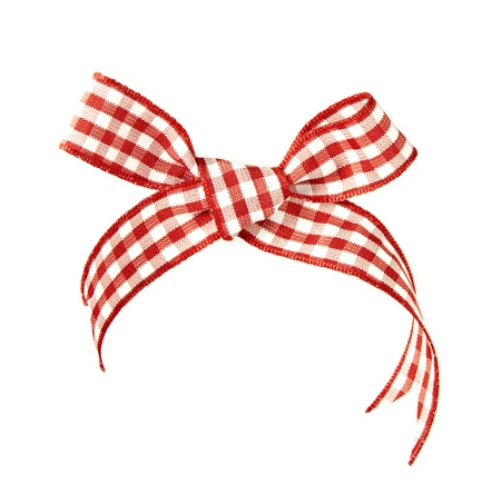 Red bow isolated on a white background Stock Photo