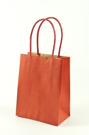 Gift bag isolated on a white background