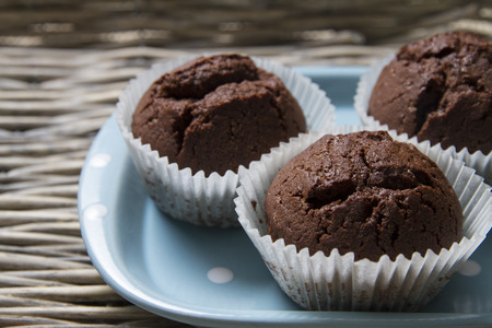 Muffins on a plate Stock Photo