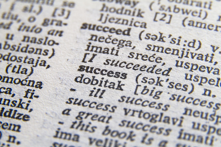 single word: Word success close-up Stock Photo
