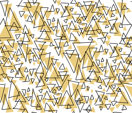 Hand-drawn triangle repeating pattern