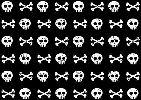 Een schattige, grappige piraatskedels en bottenpatroon. Piraten vlag.