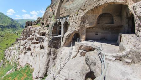 Vardzia cave city monastery in Georgia.