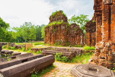 Remains of Hindu tower-temples at My Son Sanctuary