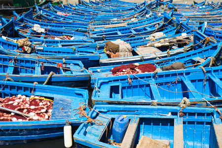 11th: ESSAOUIRA, MOROCCO: Fishing boat in the port on the coast of Essouira, Morocco. The city was called Sidi Megdoulin in 11th-century