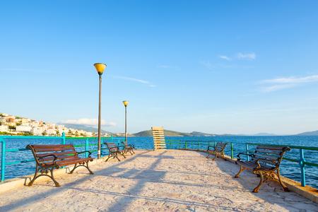 Main city promenade in Saranda, Albania.