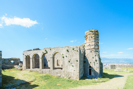 alluvial: Ruins of Rozafa Castle. Shkoder, Albania.  Stock Photo