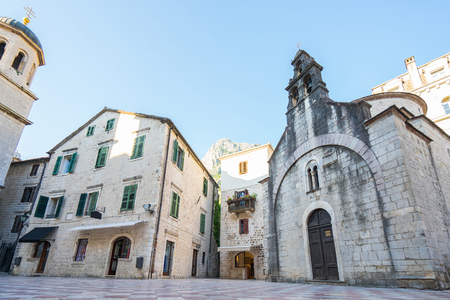 St. Lukas Church in Kotor old town, Montenegro Stock Photo