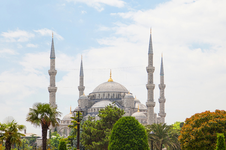 Sultan Ahmed Mosque (Blue mosque) in Istanbul , Turkey Reklamní fotografie