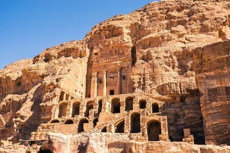 The Urn Tomb at Petra, Jordan. Foto de archivo