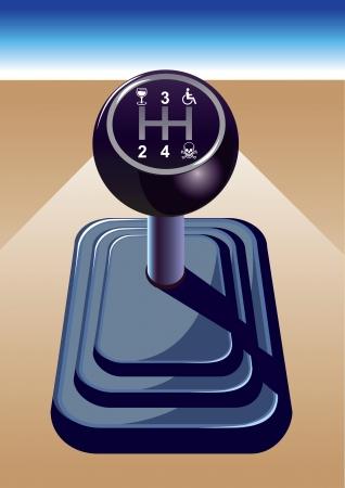 palanca: Equipo de coche, si usted bebe no conduzca.