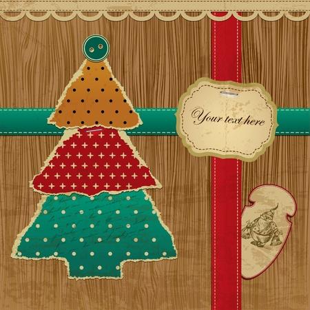 Ripped Vector Weihnachtsbaum - Grußkarte