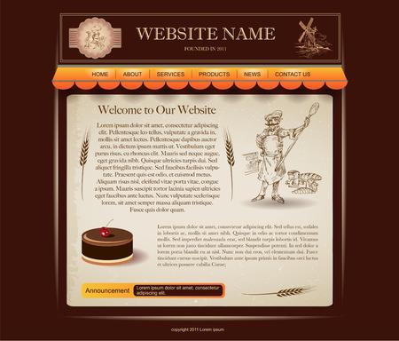 website design template Stock Vector - 28507276