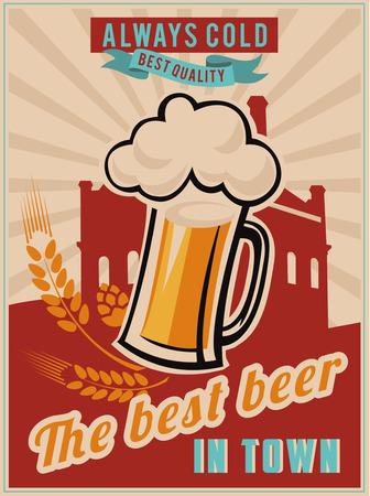 Vintage Beer Poster Vector