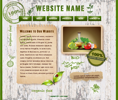 Website Design, Ecological Theme Vector