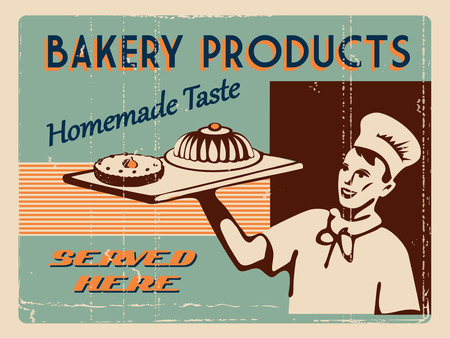 traditional goods: Bakery design template