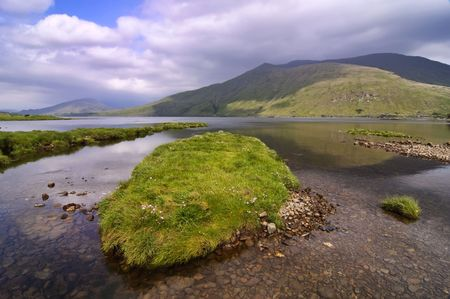 achill: fishing and hiking trail in vibrant landscape