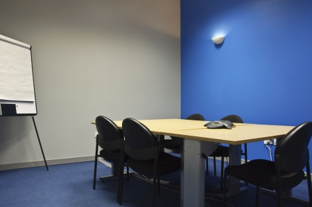 empty modern classroom or meeting room with flip boards