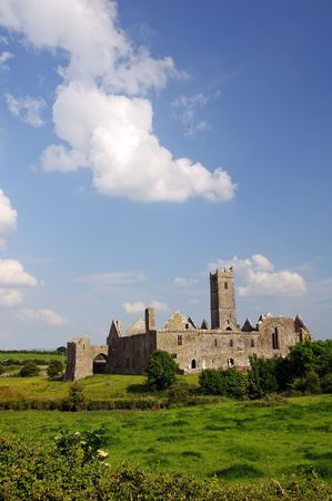 quin: quin abbey, famous in county clare, ireland