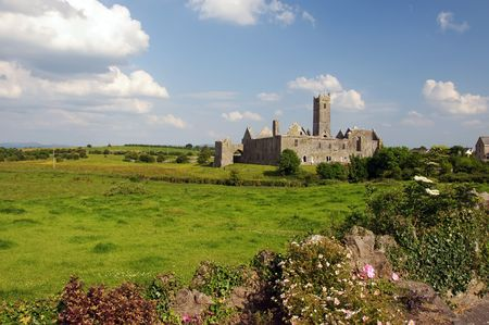 abbey: quin abbey, famous in county clare, ireland