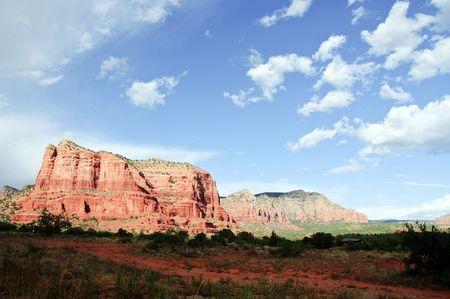 coconino national forest: Landscape of Cathedral rock at Sedona Arizona