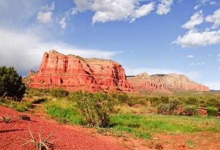 coconino national forest: Landscape of Cathedral rock at Sedona Arizona