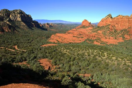 coconino national forest: scenic red stone landscape of sedona, in arizona Stock Photo