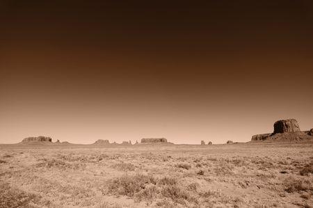 navajo land: photo pano landscape of monument valley, utah, usa