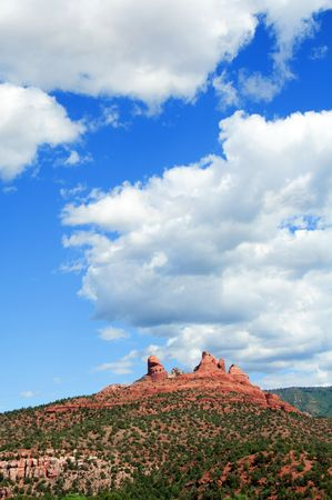 coconino national forest: photo of scenic red sandstone landscape, arizona, usa Stock Photo