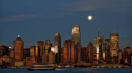 photo capture new york cityscape skyline, usa photo