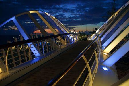 beautiful photo capture taken from a ocean ship cruise photo