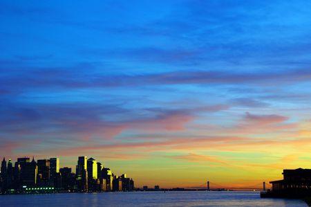photo capture new york cityscape skyline, usa Stock Photo - 5935667