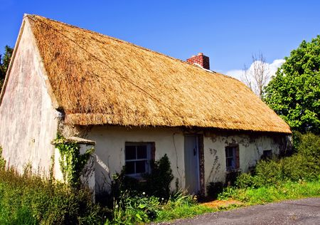 irish countryside: photo rural cottage in west of ireland farm Stock Photo