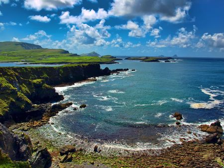 photo scenic capture from the ring of kerry, ireland photo